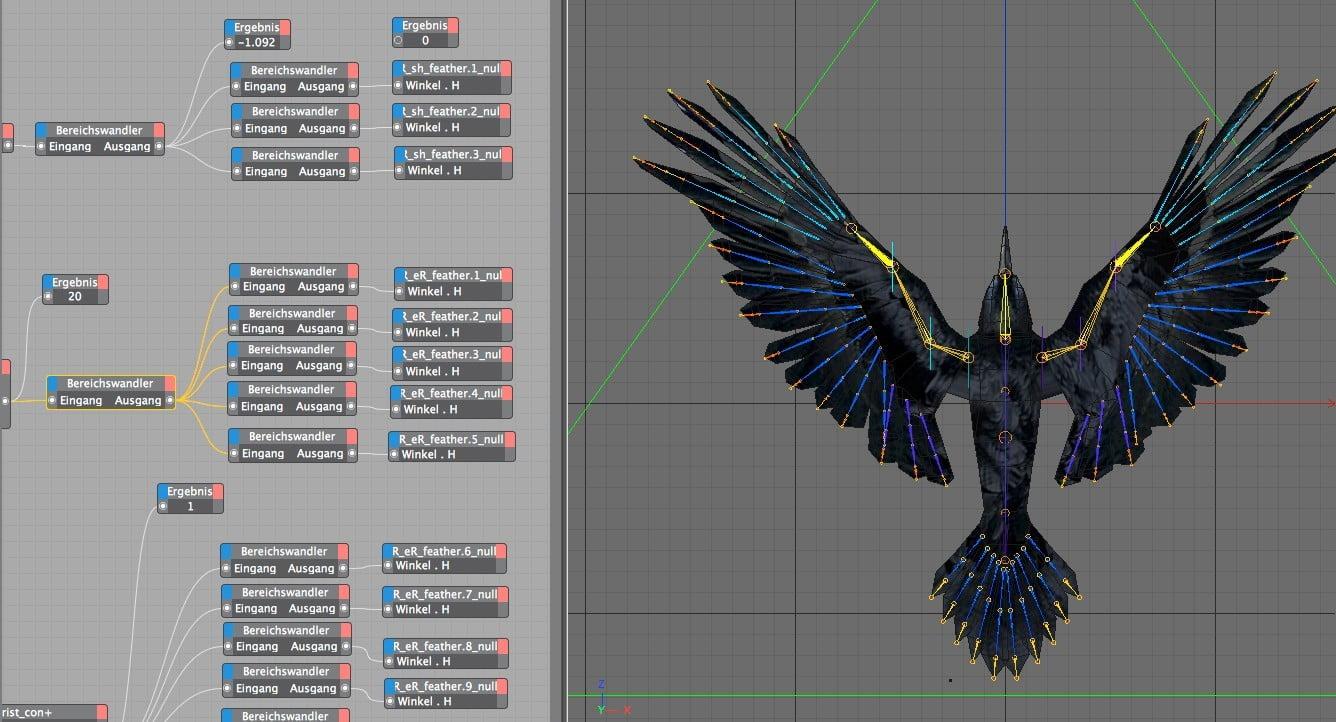 Kolkrabe Rig 3 Birdly fly