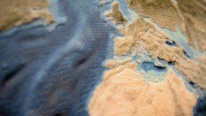 3D-Print, Palaeogeografie, Erde 30ma, zoom, ikonaut
