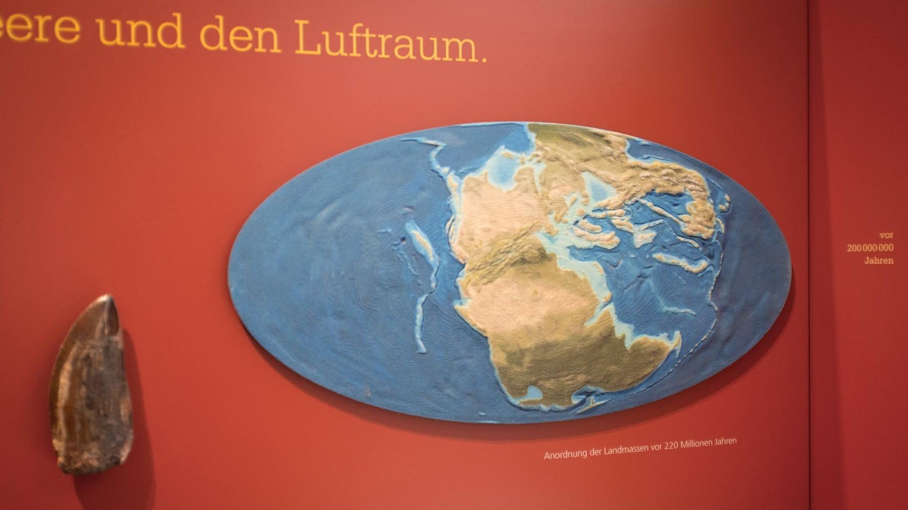 3D-Print, Palaeogeografie, Erde 220ma, ikonaut