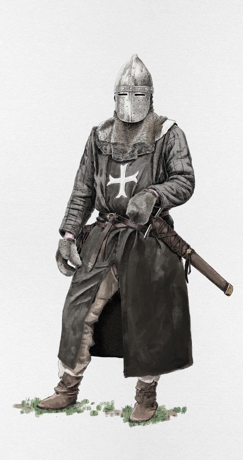 Medieval Knight, krak, ikonaut