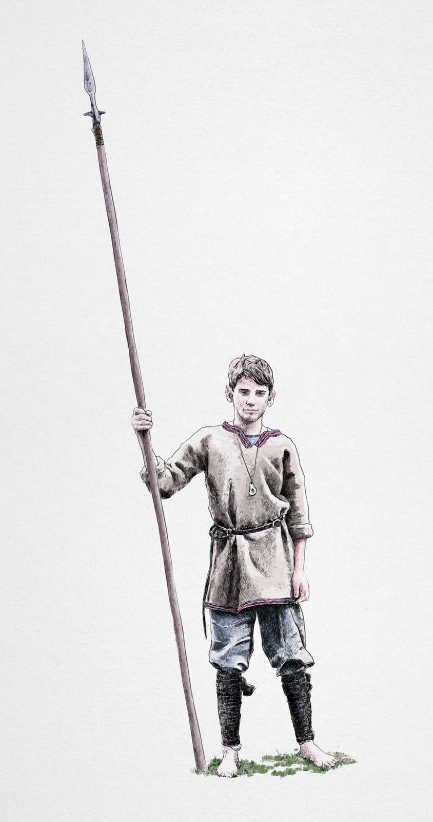 Medieval Young Man, krak, ikonaut