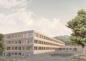 Schulhaus Staffeln, School Staffeln, Architekturvisualisierung, ikonaut