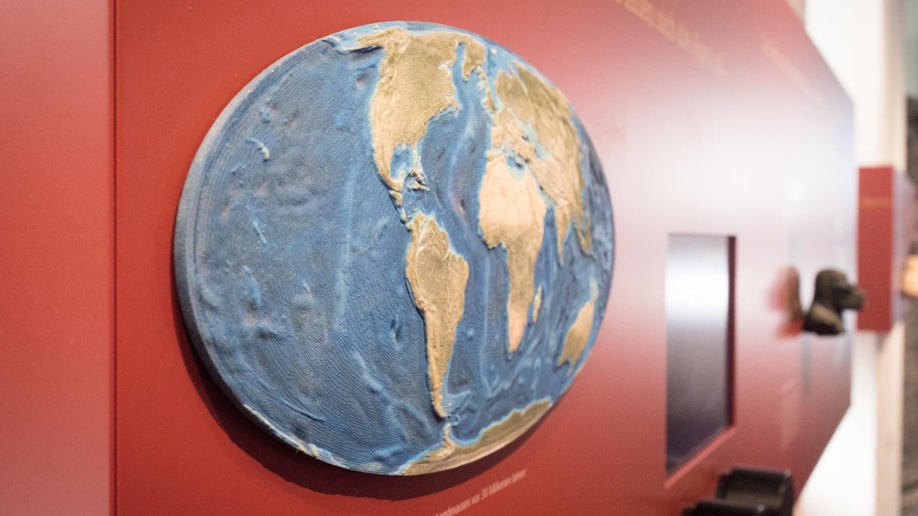 3D-Print, Palaeogeografie, Erde 30ma, ikonaut