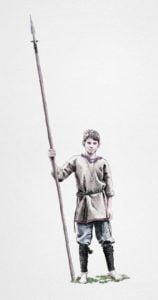 Medieval Young Man, krak, ikonaut, ruestungen