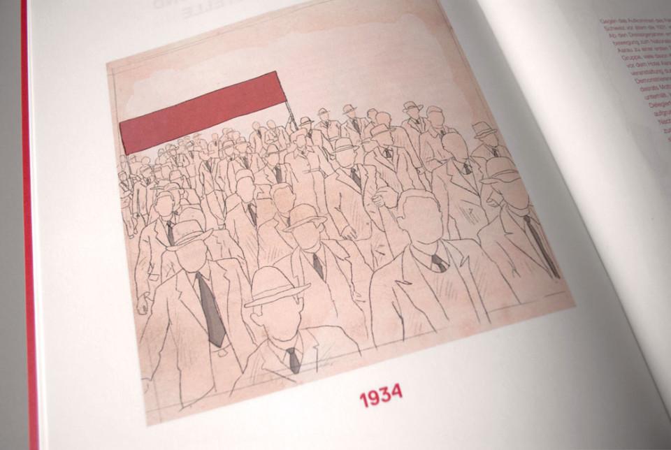 100 Jahre SP Aarau, illustration, 1934, Festschrift, ikonaut