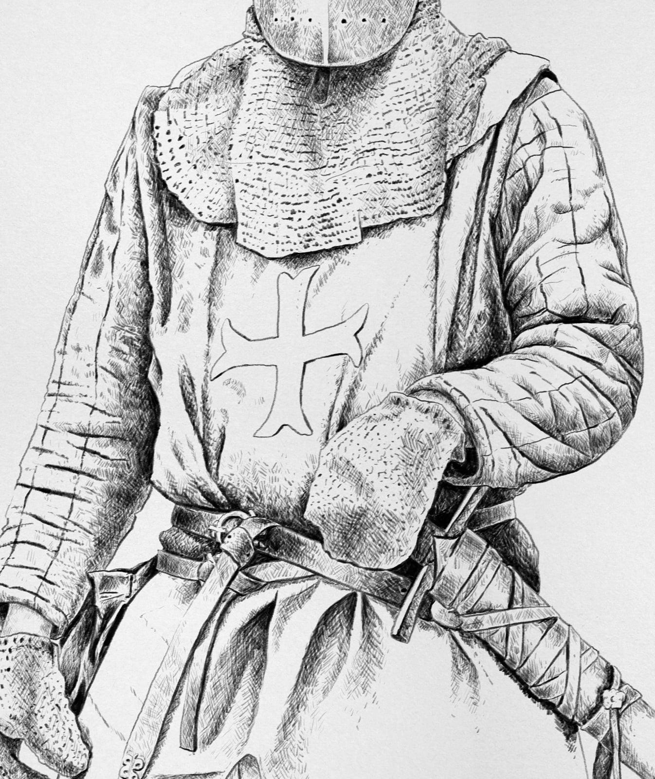Medieval Knight, krak, ikonaut, ruestungen, zoom