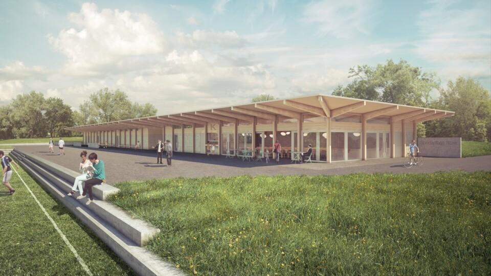 Kuettigen Ritzer, sports facility, Architekturvisualisierung, ikonaut