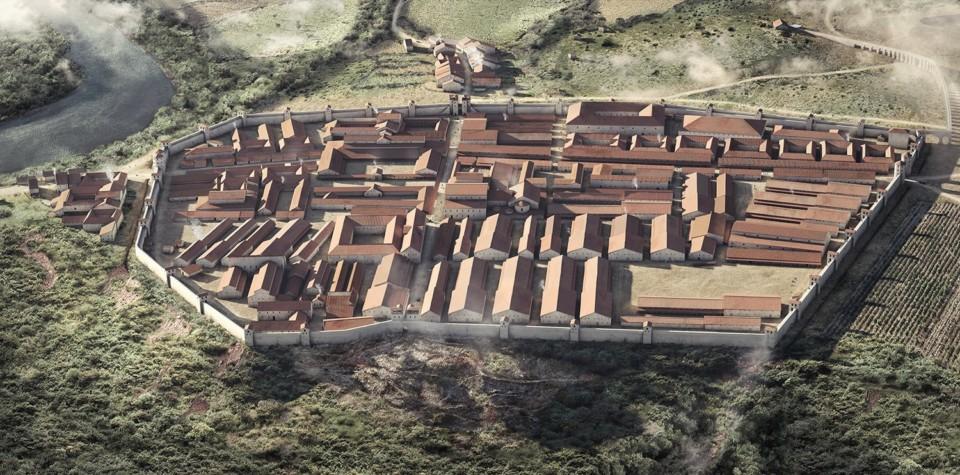 Legionslager Vindonissa, Nordansicht, Northern View, 3d-rekonstruktion, ikonaut