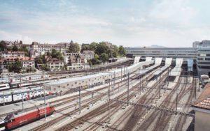 SBB, Bahnhof Bern, Passerelle aussen, ikonaut