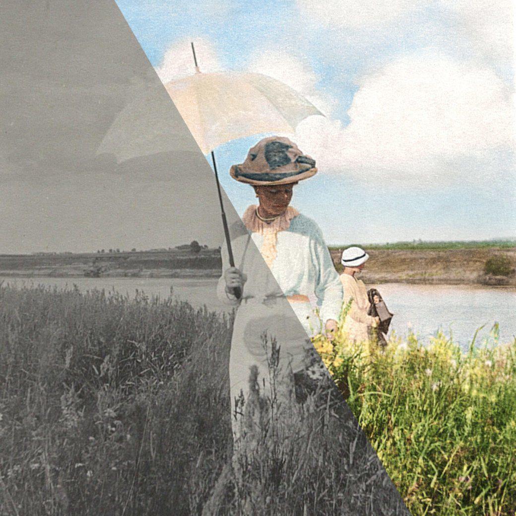 Alix in the Field, Romanovs100, ikonaut, photo colorization, foto-kolorierungswettbewerb