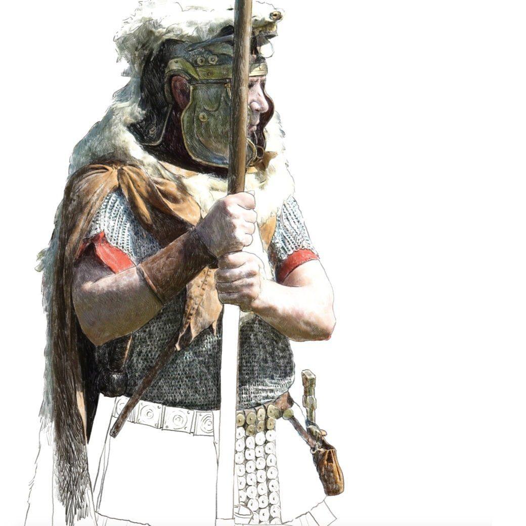 Roemischer Aquilifer Ausschnitt ikonaut Ruestungen Suits of Armour