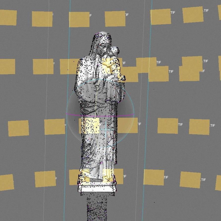 Madonna Prozess, Photogrammetrie, ikonaut
