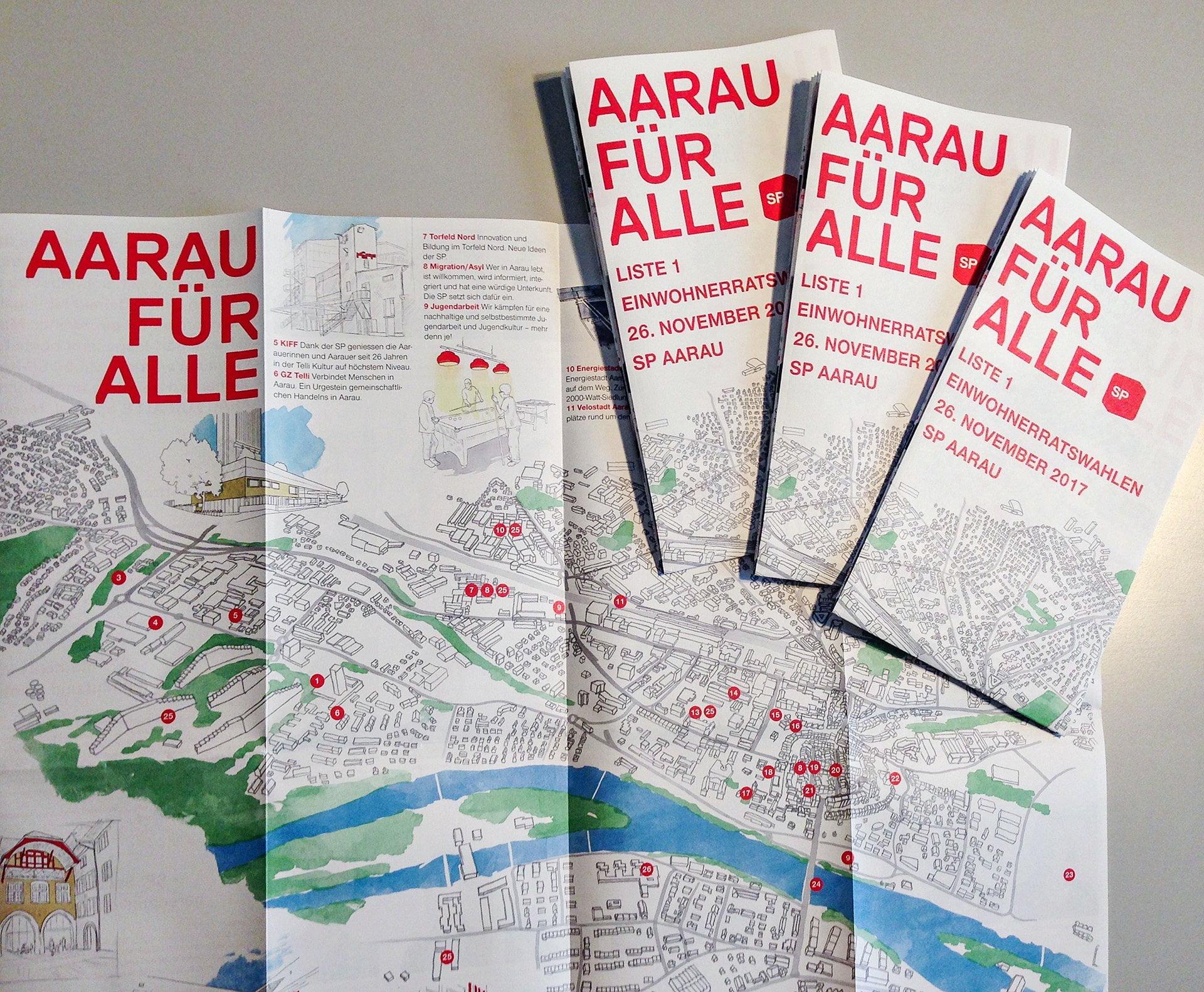 SP Aarau, Stadtkarte, Titelseite, ikonaut