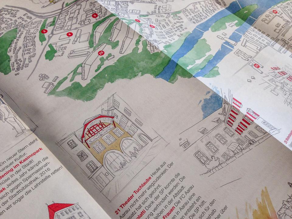 SP Aarau, Stadtkarte, Zoom, ikonaut