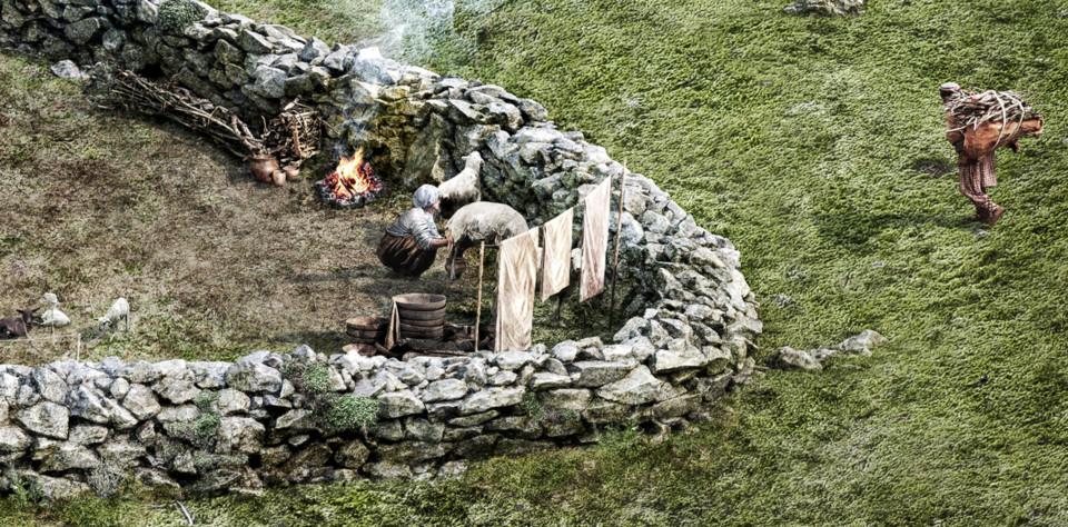 Eisenzeitlicher Viehpferch, Zoom, ikonaut