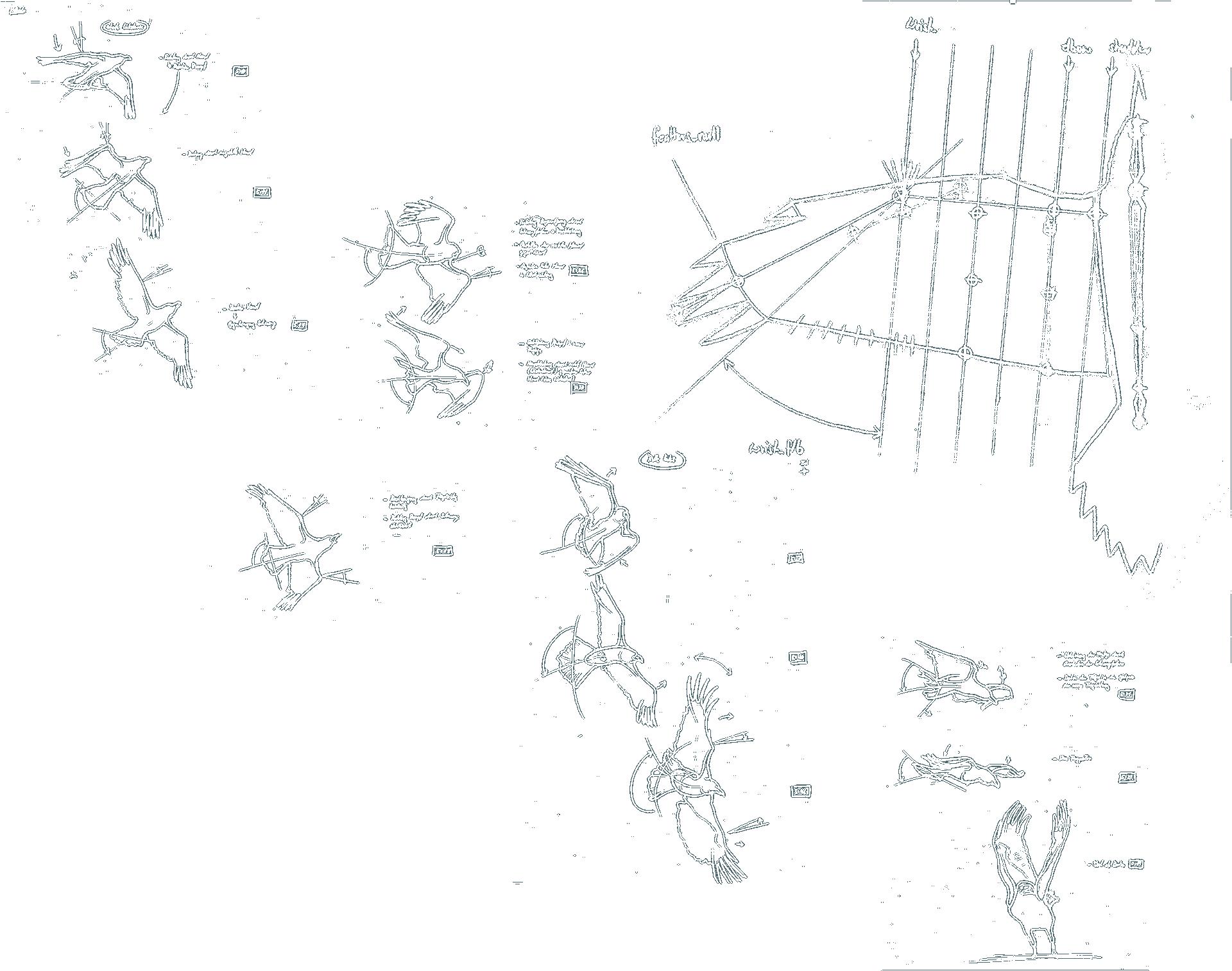 Birdly, Skizzen Voeglflug, ikonaut