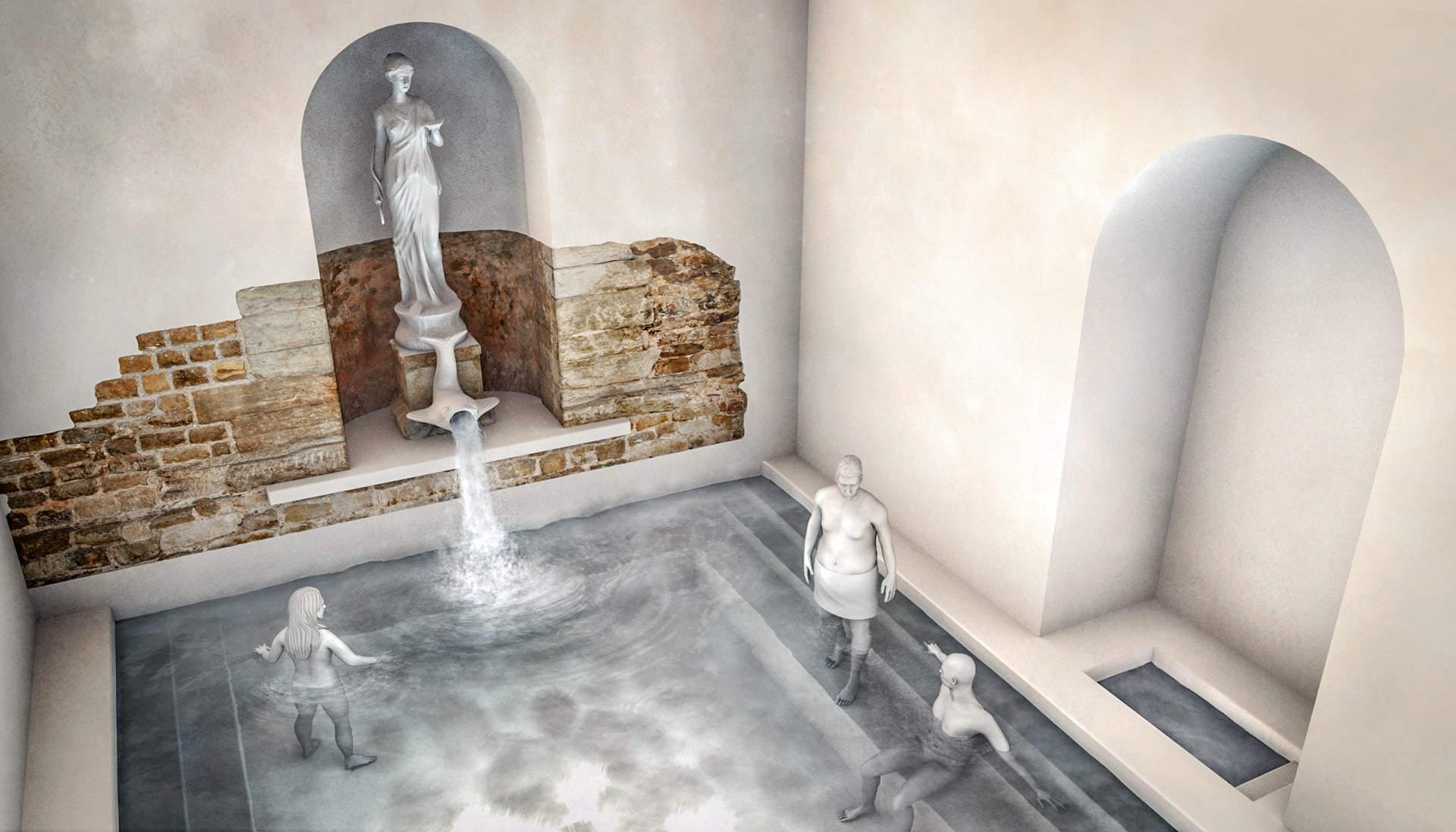 aquae helvetica, 3D-Rekonstruktion Apsis, ikonaut