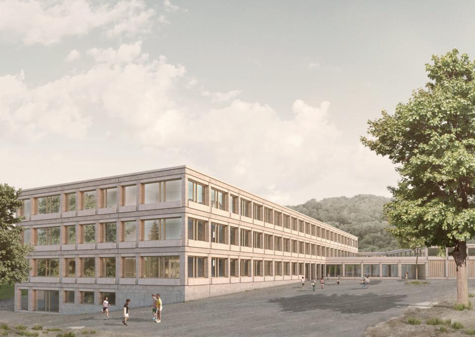 Schulhaus Staffeln Aussen, Wettbewerbsbeitrag, ikonaut