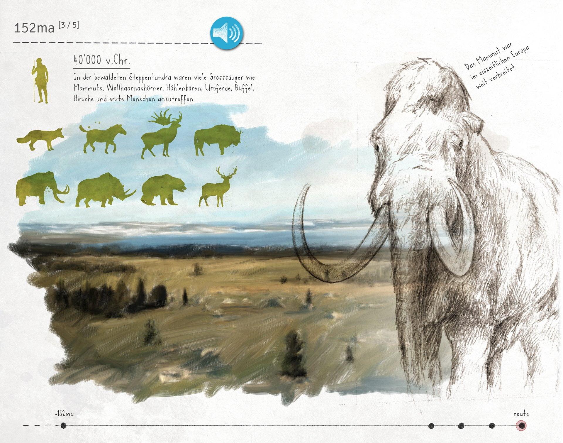 Paléoskop, digitales Skizzenbuch, Eiszeit, ikonaut