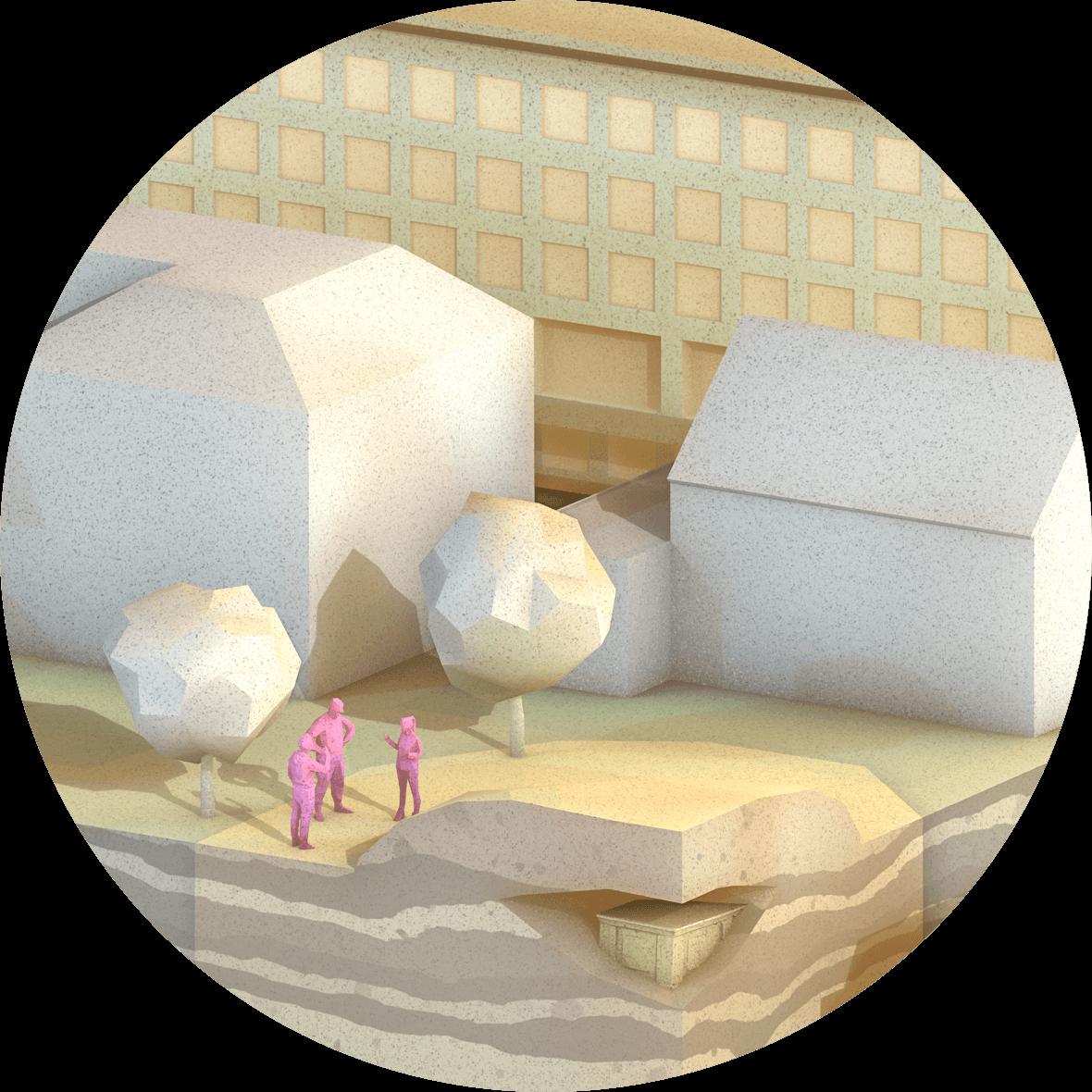 Ausschnitt Plakat, 3D-Visualisierung, Zoom 1, ikonaut