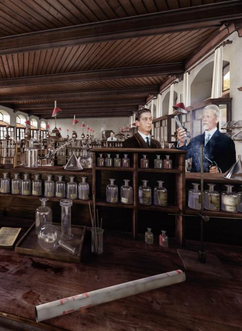 360° historisches Chemielabor