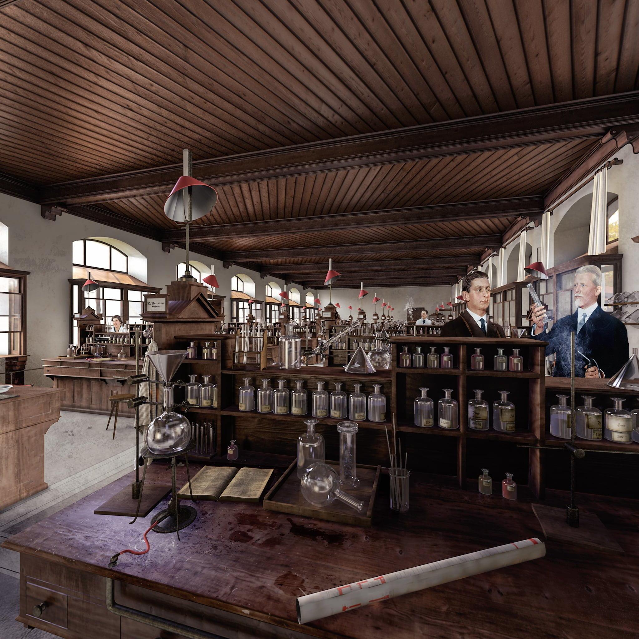 360° ETH Chemielabor, Ausschnitt, Rekonstruktion, ikonaut