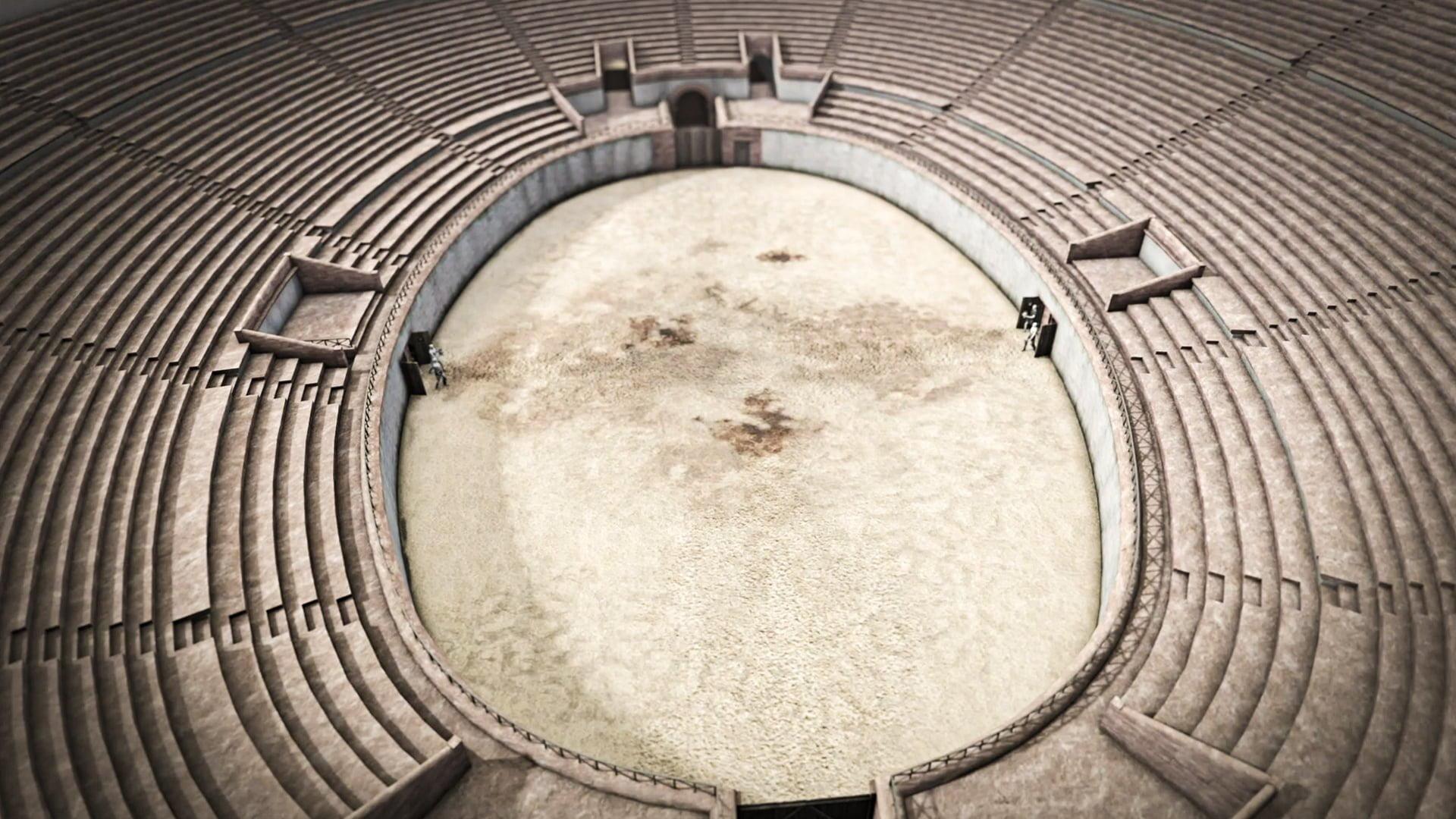 Augusta Raurica, Amphitheater, Screen, Arena, ikonaut
