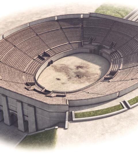 Amphitheater für Infotafeln