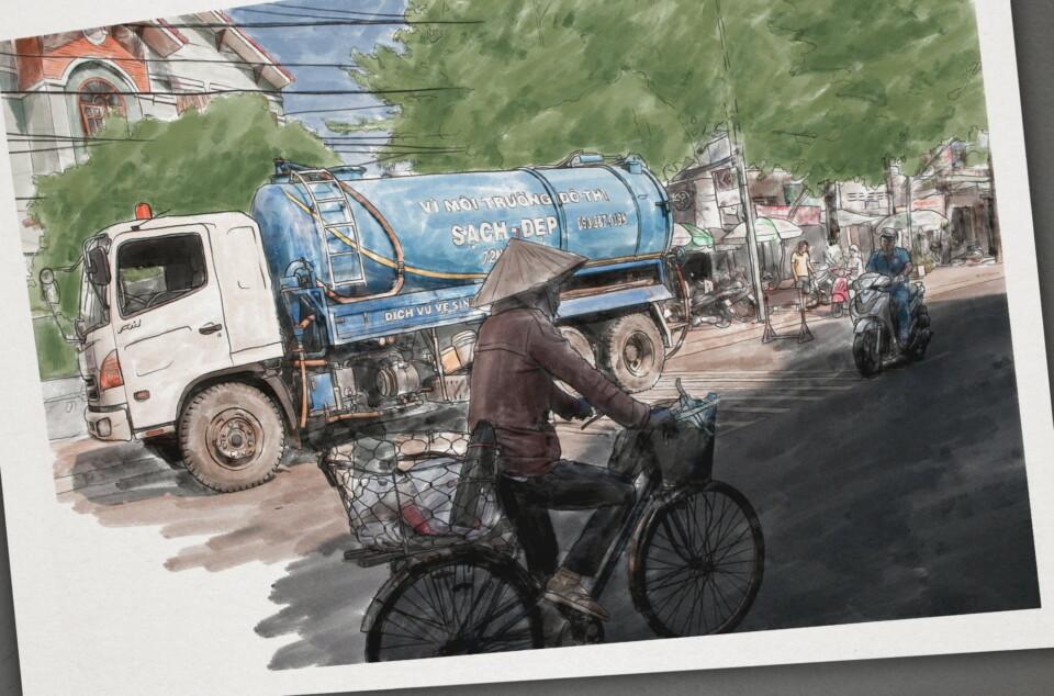 EAWAG, Illustration, Lastwagen, Concad-Initiative, ikonaut